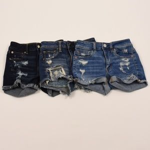 Three American Eagle Outfitters Distressed Shorts